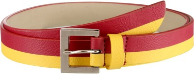 Orkee Women Evening Red Artificial Leather Belt
