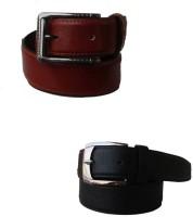 Klaska Men Casual Black Genuine Leather Belt