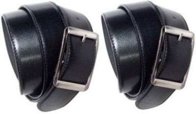 Chander Men Black Artificial Leather Belt