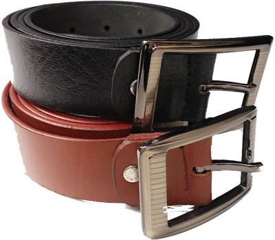 AVS Fashion Boys Casual Black, Brown Genuine Leather Reversible Belt