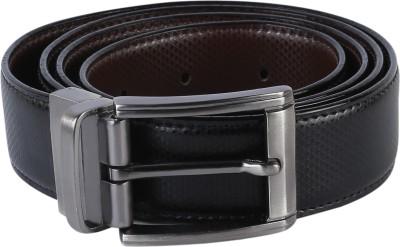 TIE & CUFFS Men Party, Formal Black, Brown Genuine Leather Belt