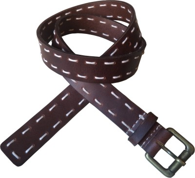 Romari Men Brown Genuine Leather Belt