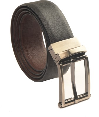 Armaan Leather Men Formal Black Genuine Leather Reversible Belt
