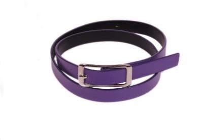 Bs Spy Women Casual Purple Artificial Leather Belt