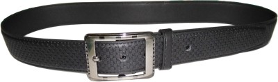 Reddish Men Black Artificial Leather Belt
