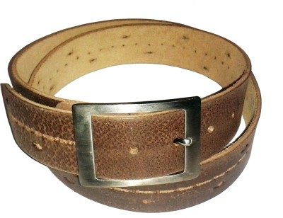 Sanshul Boys Casual Brown Genuine Leather Belt
