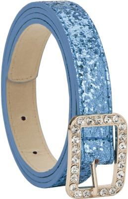 Freshka Women Party Blue Artificial Leather Belt