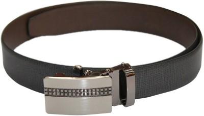 Haywire Men Formal Grey Genuine Leather Belt