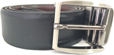 Auzi Men Casual Black, Brown Genuine Leather Reversible Belt
