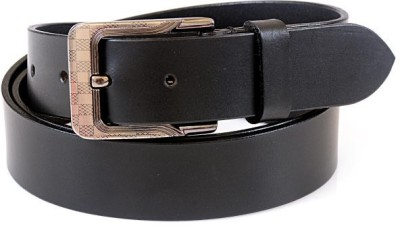 Thayla Men Black Genuine Leather Belt