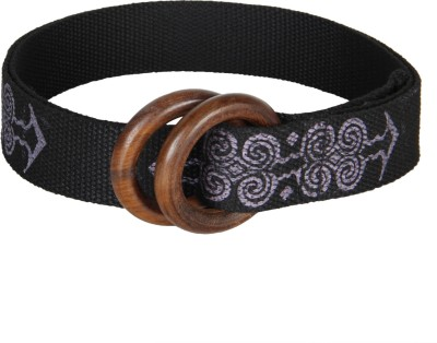 Anekaant Women Casual Black Fabric Belt