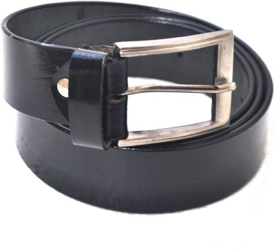 Modish Men Casual, Formal Black Genuine Leather Belt