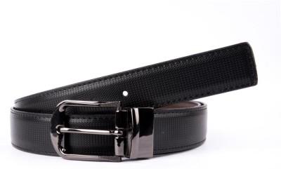 BROUNPLUS Boys, Men Formal Black Artificial Leather Reversible Belt