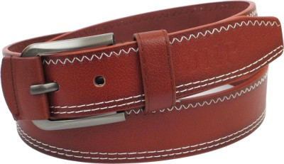 Jiip Fashion Men Casual Brown Genuine Leather Belt