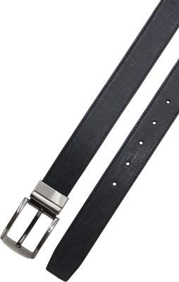 ALLURE DESIGN Men Formal Black Artificial Leather Reversible Belt