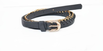 Crux&Hunter Girls Casual, Evening Black Artificial Leather Belt