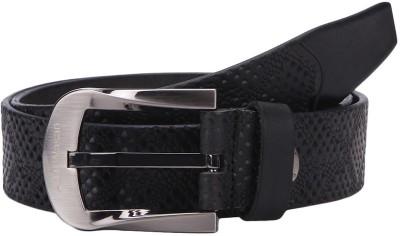 Aditi Wasan Men Black Genuine Leather Belt
