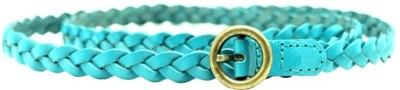 LaPalma Women Casual Blue Genuine Leather Belt