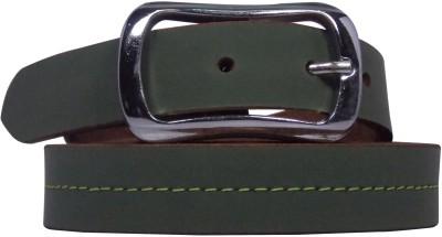 Ekora Girls Casual Green Genuine Leather Belt