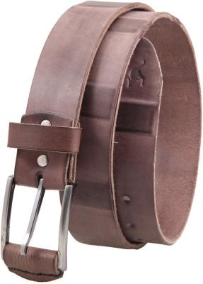 Kangoo Men Casual Brown Genuine Leather Belt