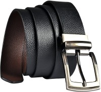 Saugat Traders Boys Formal, Casual Black, Brown Genuine Leather Reversible Belt