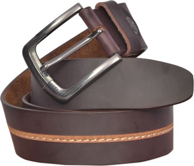 sankalp Men Maroon Genuine Leather Belt