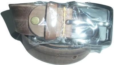 EVG Boys, Men Casual, Evening, Formal Brown Genuine Leather Belt