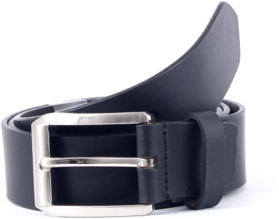 Pacific Gold Men Formal Black Genuine Leather Belt