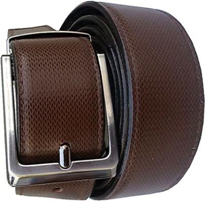 Wholesomdeal Men Formal Brown Synthetic Reversible Belt