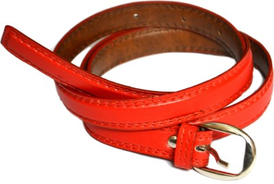 VICTORIA SECRET INDIA Girls, Women Red Artificial Leather Belt