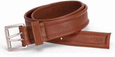Viari Men Formal Tan Genuine Leather Belt