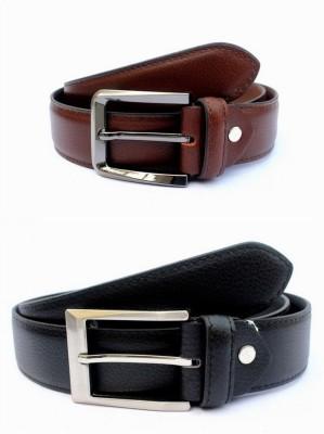 KRG ENTERPRISES Men Formal Multicolor Genuine Leather Belt