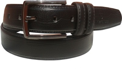 Sanshul Men Formal Black Artificial Leather Belt