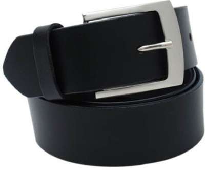 Ruchiworld Men, Boys Casual Black Genuine Leather Belt