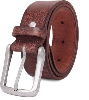 NEUBUCK Men Orange Genuine Leather Belt