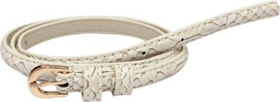 SRI Women White Artificial Leather Belt
