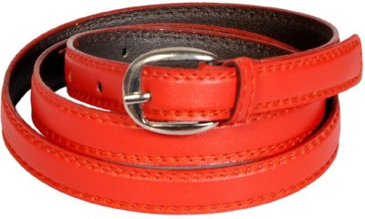 Swan Collection Girls, Women Casual, Evening, Formal Red Artificial Leather Belt
