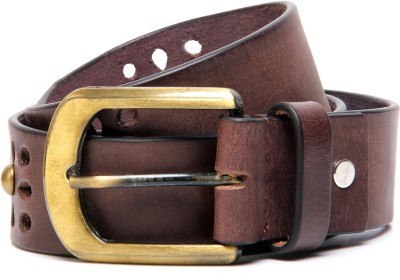 Ligans Ny Men Casual, Evening, Party Brown Genuine Leather Belt