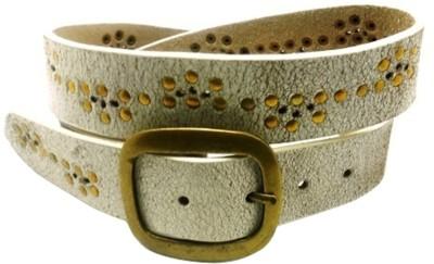 LaPalma Girls Casual White Genuine Leather Belt