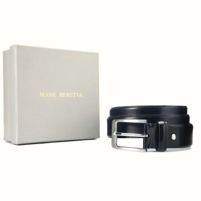 Mane Beretta Men Evening Black Genuine Leather Belt