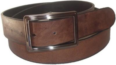 Jaws N Horns Men Formal, Casual Brown Genuine Leather Reversible Belt