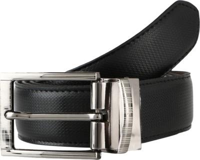 Leedo Men Casual Black Artificial Leather Reversible Belt
