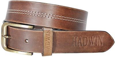 Hadwin Men Formal Maroon Genuine Leather Belt