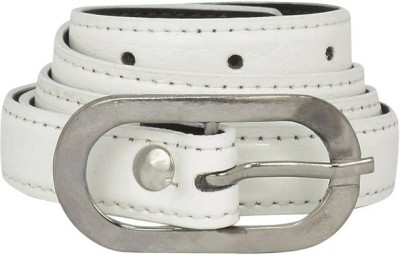 Bueva Women Casual, Formal White Synthetic Belt