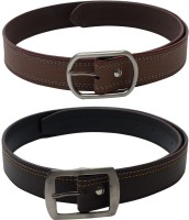 Skyways Men Casual Brown, Brown Artificial Leather Belt best price on Flipkart @ Rs. 499
