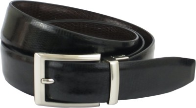 ABHINAVS Men Formal Black, Brown Genuine Leather Reversible Belt