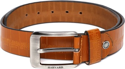 Harvard Men Tan Genuine Leather Belt