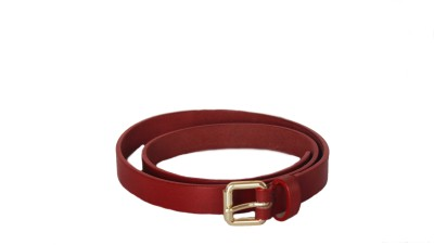 Vickiana Quest Girls, Women Formal, Casual Red Genuine Leather Belt