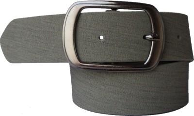 Lenin Men Formal Grey Genuine Leather Belt