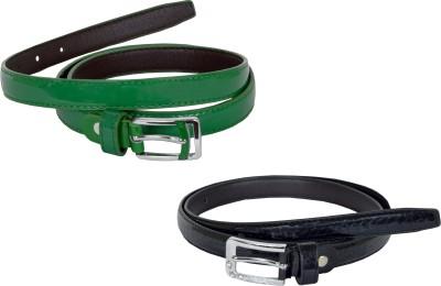 dazzler Girls Black, Green Artificial Leather Belt